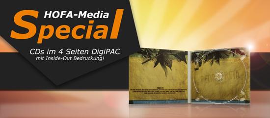 DigiPAC 4 Seiten mit Inside-Out Bedruckung