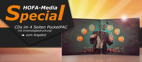 HOFA-Media Special: PocketPAC mit Innenstegbedruckung!