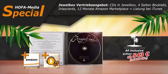 HOFA-Media All inklusive Special: CDs in Jewelbox + Vertriebspaket