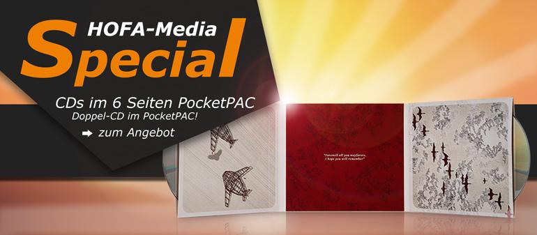 Media-Special: CDs im 6 Seiten PocketPAC mit Doppel-CD!