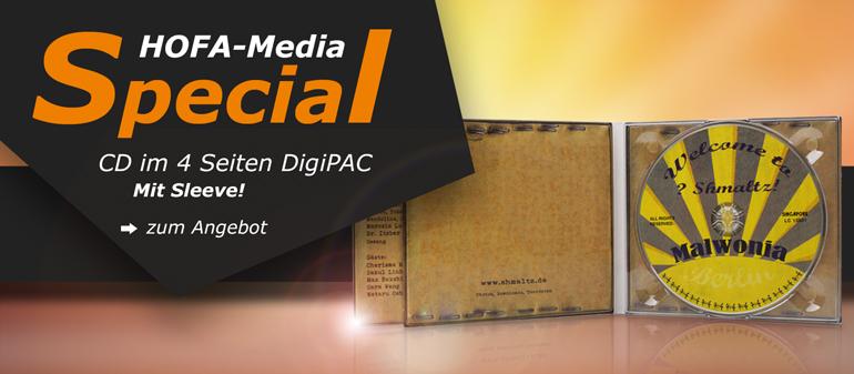 HOFA-Media Special: CD im 4 Seiten DigiPAC mit Sleeve!