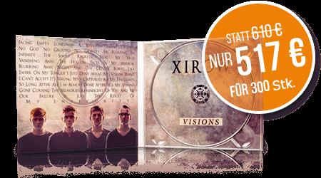 CDs im 4 Seiten DigiPAC 300 Stk. nur 517 €