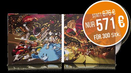 CDs im PocketPAC 4 Seiten, 300 Stk. nur 571 €.