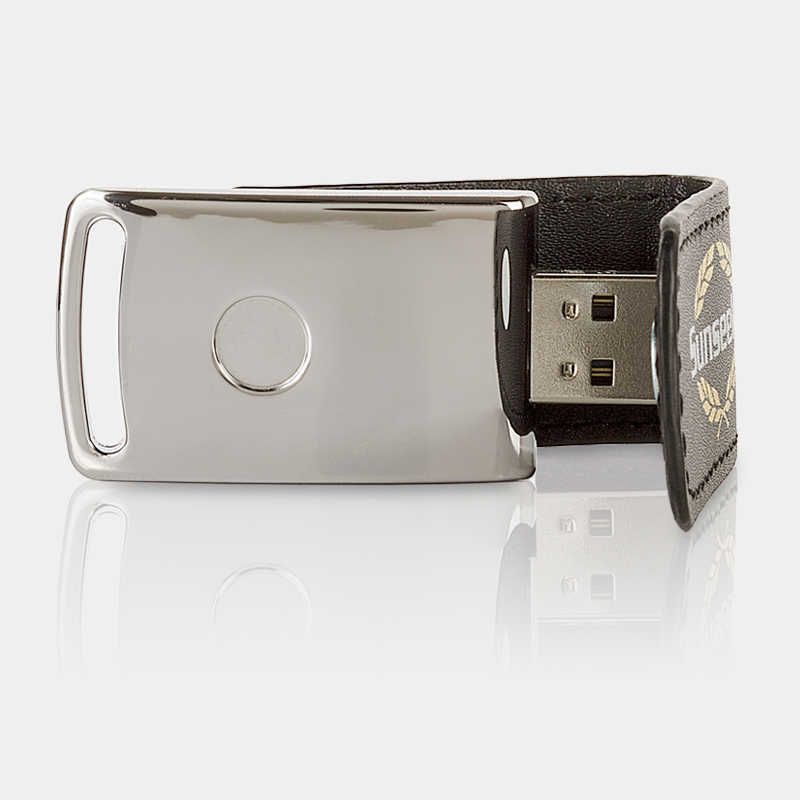 Image: USB Flash Drive with lether